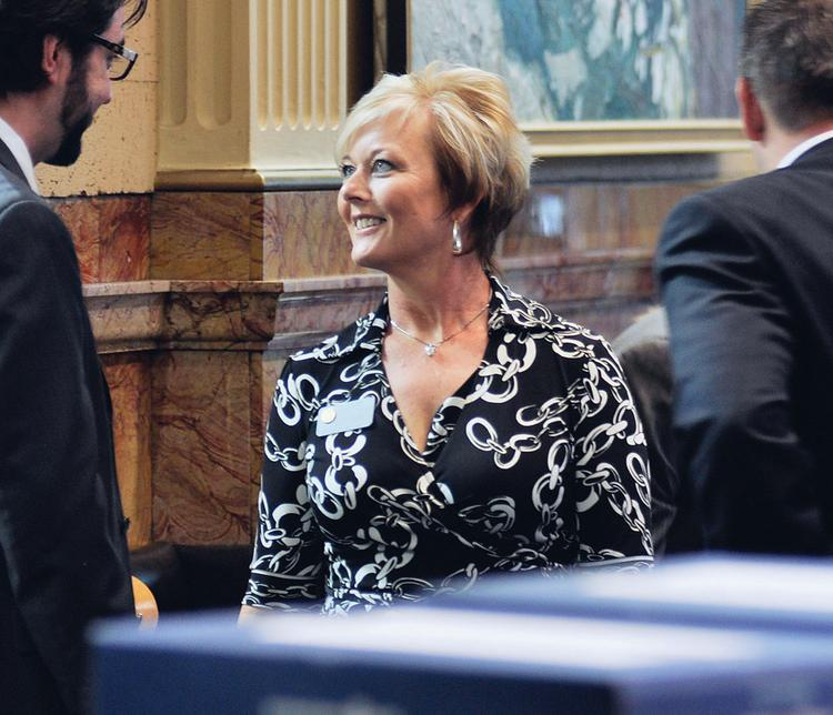 Colorado House Majority Leader Amy Stephens, R-Monument, engages in a discussion during the recent legislative session. She said the constant defeat of House bills in the Senate frustrated House Republicans who had wanted to pass more tax credits and build a more business-friendly climate in the state.