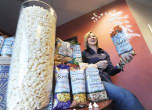 Karen Bradley is co-owner of Rocky Mountain Popcorn Co. with her husband, Tim. They bought the company four years ago.