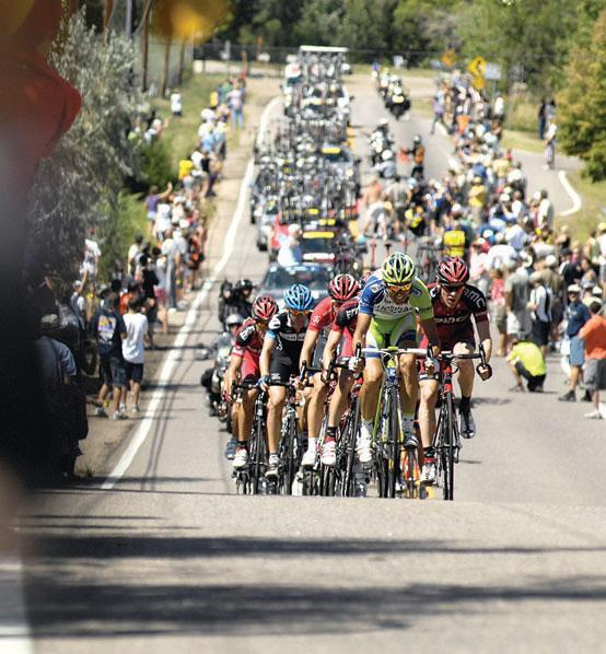 The USA Pro Challenge raced through Golden on West 32nd Avenue on the last day of the 2011 event.