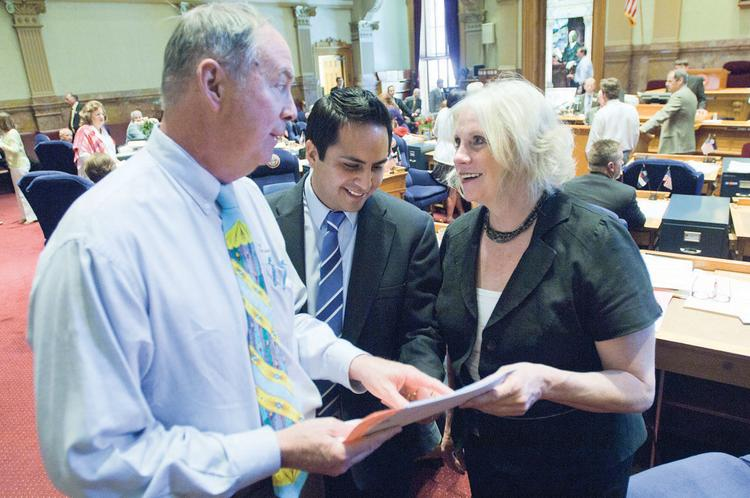 Rep. Larry Liston, R-Colorado Springs; Rep. Dan Pabon, D-Denver; and Sen. Cheri Jahn, D-Wheat Ridge, are co-sponsors of House Bill S-1002 on unemployment insurance.