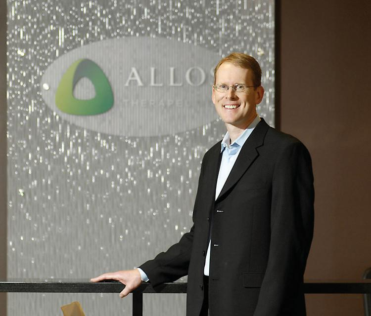 David Clark is Allos Therapeutics' vice president of finance. The biotechnology company is banking on its drug Folotyn to bring it success. The drug treats a rare kind of lymphoma.
