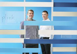 Peter Vogel, co-founder and vice president of business development, and Bryan Tyler, vice president of technology, at Plink — a Denver startup that has gained some attention from Silicon Valley.