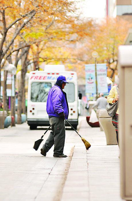 The Downtown Denver Business Improvement District handles daily cleaning.