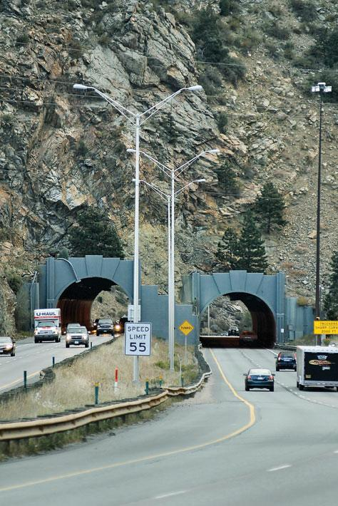 The west side of the Twin Tunnels outside of Idaho Springs.