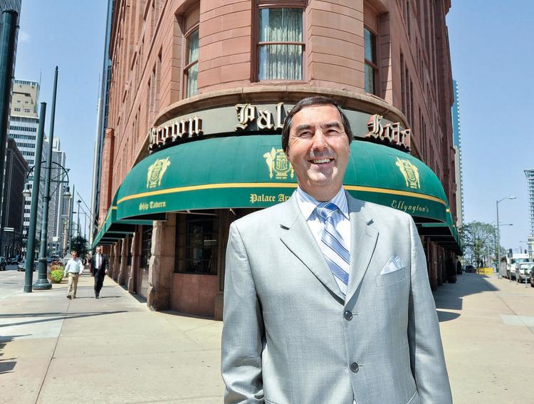 """Marcel Pitton, general manager of The Brown Palace Hotel, says about the landmark Denver hotel's new affiliation with Marriott: """"Locally, nothing will change. Nationally, we will become more visible."""""""
