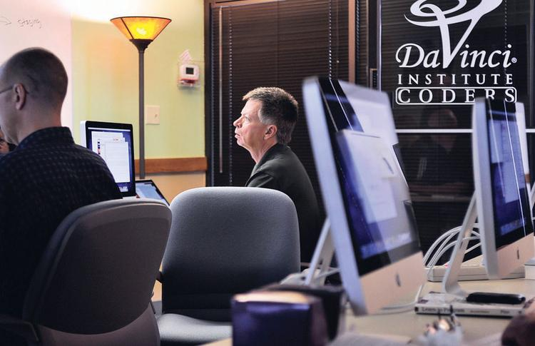 Mick Trujillo participates in a class at DaVinci Coders, which has signed up 19 students for its new session.
