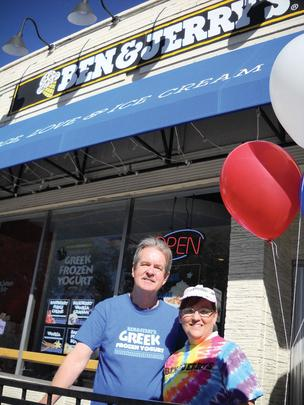 Steve and Carolyn Steffens, owners of the Ben & Jerry's ice cream shop near the University of Denver, saw a boost in business during the week of the presidential debate.