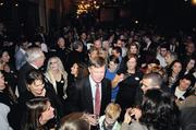 Denver Mayor John Hickenlooper, a Democrat, moves through a crowd of supporters after he was declared the next Colorado governor on election night.