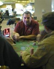 Scott Korth from Larkspur plays blackjack  at the Isle of Capri in Black Hawk.