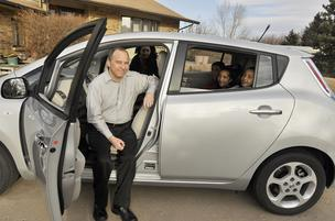 Derek Passarelli, who works in Golden as the chief legal counsel for the DOE's Office of Energy Efficiency and Renewable Energy, bought the first Nissan Leaf sold in Colorado in December 2011. He'd been waiting since May 2010 to get the car.