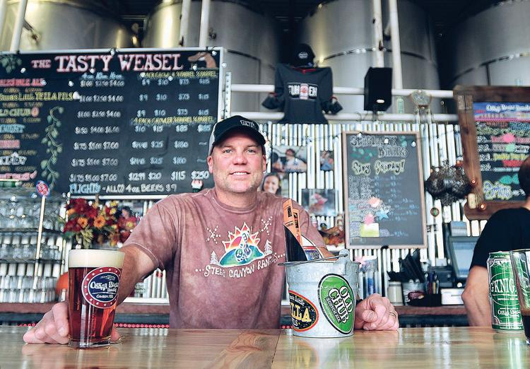 Dale Katechis of Oskar Blues in the Tasty Weasel Tap Room at the brewery in Longmont.