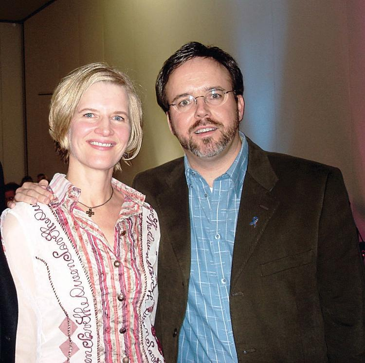 Sarah J. (Chafai) Davidson and Zach Davidson at a 2007 social event in Denver. They divorced in July 2010.
