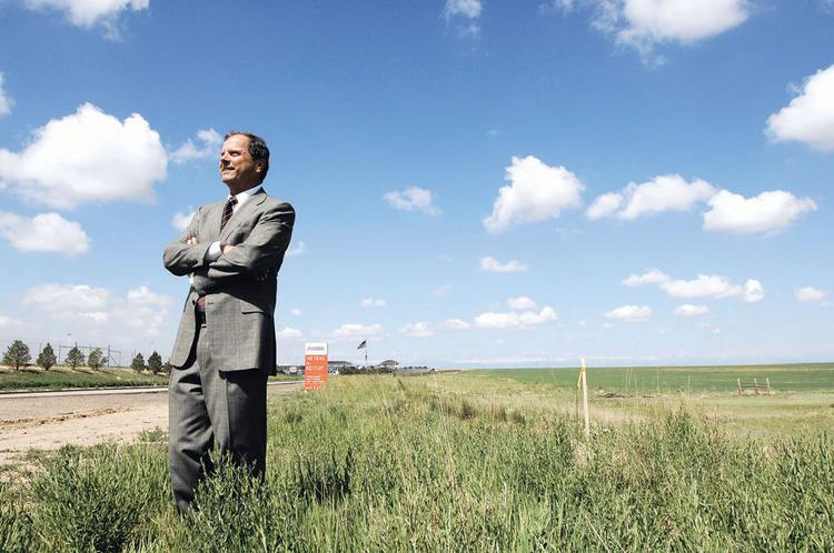 Chris Thompson is the owner of the land at 81st Avenue and Tower Road, where he plans to develop the DIA Tech Center. The property is adjacent to the USA Airport Parking lot.