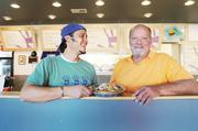 Ben Jacobs, co-owner of Tocabe, with his dad, Tom Jacobs, who often helps out at the north Denver restaurant, 3536 W. 44th Ave.