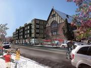 An artist's rendering of one of the three luxury apartment buildings RedPeak Properties wants to build.