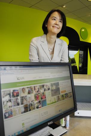 Emily Huang, Rivet Software, donates regularly to Kiva, an international organization connecting people through lending to alleviate poverty.