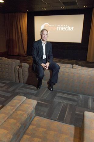 """Kurt Hall, chairman and CEO of National CineMedia, says movie theaters are """"recession resistant"""" because when money gets tight for consumers, going to the movies is a good value."""