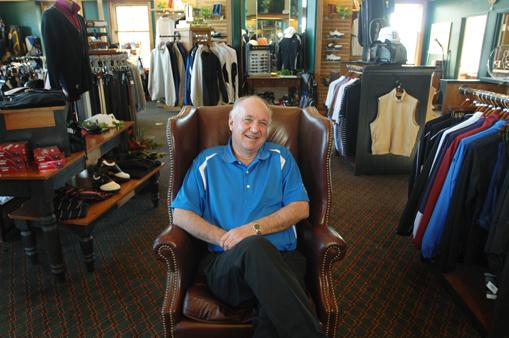 Bill Ramsey, manager of golf facilities at South Suburban Parks and Recreation, sits in the Lone Tree Golf Club & Hotel's Pro Shop.
