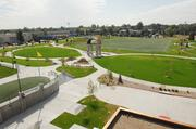 The sidewalk at Glendale's Infinity Park is designed as an infinity symbol.