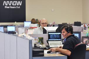 Arrow Electronics employees work at the company's Arapahoe County headquarters.