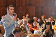 Christopher Petti of Colonial Life asks a question at the Health Care Reform Forum.