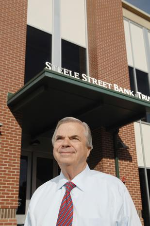 Bob Malone, chairman and CEO of Steele Street Bank & Trust in Denver, started the financial instituation from scratch in 2003 with six other high-profile local business professionals, including Ray Baker, co-founder of the Gold Crown Foundation, and Dick Robinson, co-CEO of Robinson Dairy.