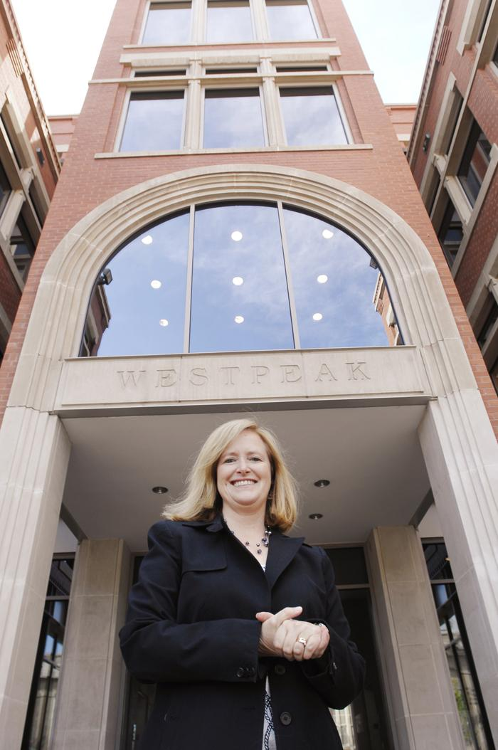 """Natalie Hanlon-Leh, partner at Faegre Baker Daniels at its office in Boulder, says the firm's intellectual property practice remains busy. """"Part of it is the economy; companies have more money to invest in intellectual property,"""" she says."""