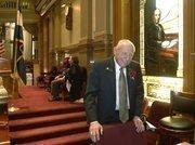 Sen. Rollie Heath, D-Boulder, on opening day of the Colorado Legislature.