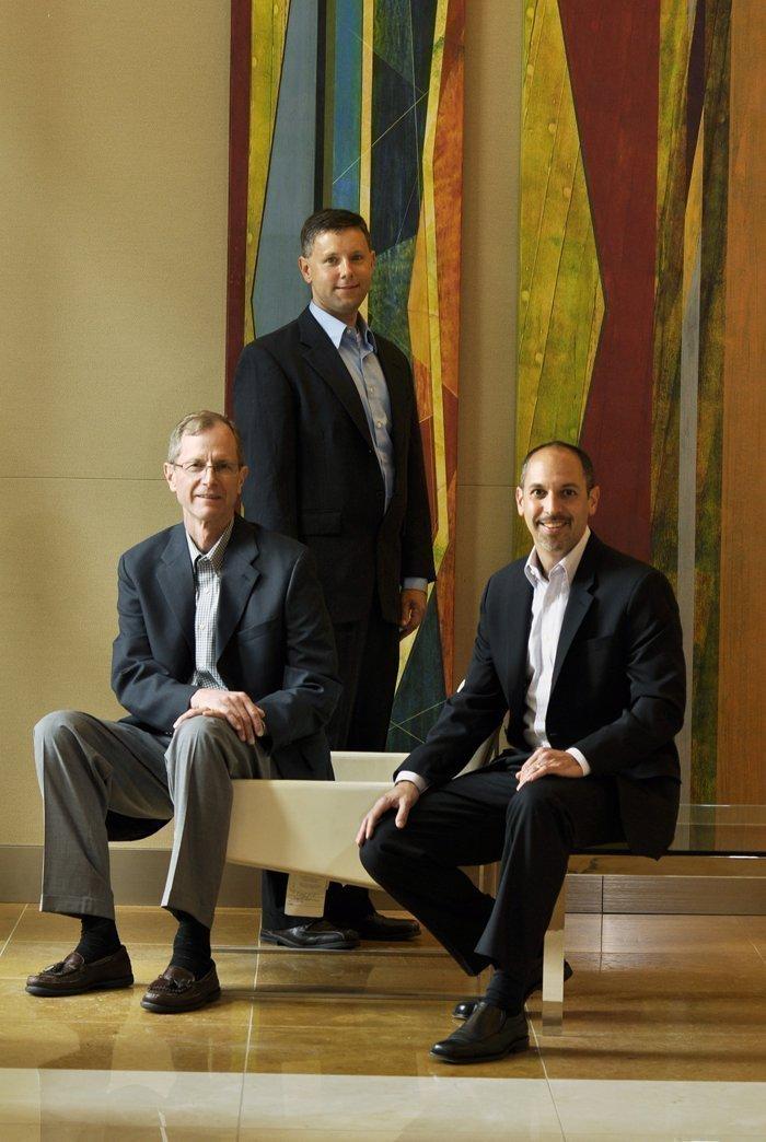 From left, Kilpatrick Townsend & Stockton's Steve Jewett, counsel; Gene Bernard, partner; and Ian Saffer, managing partner.