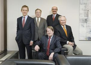 Clockwise from left, Otten Johnson Robinson Neff + Ragonetti's Michael Westover, Thomas Macdonald, John Sternberg, Thomas Ragonetti and Frank Robinson.