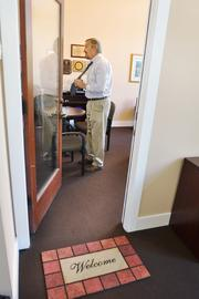 "Guillermo ""Bill"" Vidal, president and CEO of the Hispanic Chamber of Commerce of Metro Denver, has a welcome mat outside his office door. ""We need to open our doors and make everyone feel included. That's how a community develops,"" he says."