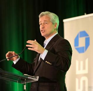 """As the meeting opened,                   current CEO and chair    Jamie Dimon said he was """"delighted"""" to be in Tampa at JPMorgan's Highland Oaks campus, which he called """"a key operating center"""" for the company."""