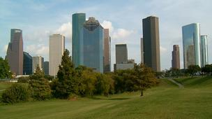 The two cities with the best growth in private-sector jobs since the recession are in Texax -- Houston, picutured above, and Austin.
