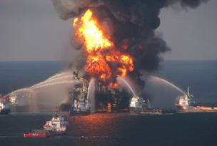 Studies show that the Deepwater Horizon rig disaster resulted in 57,000 barrels of oil a day flowing into the Gulf of Mexico.