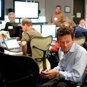 BP CEO Tony Hayward monitors the company's 'top kill' operation from BP's Houston office.