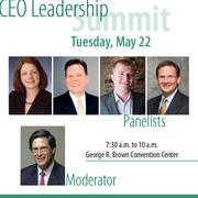 Join HBJ for breakfast and hear panelists Deborah Cannon, CEO of the Houston Zoo; Bradley Freels, CEO of Midway Cos.; Anthony Milton, CEO of My Fit Foods; and Matthew Morris, CEO of Stewart Information Services Corp., on how to propel your company to the top. Rick Stein, CEO of UHY Advisors is the moderator.