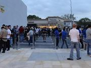 Hundreds of people turned out for the opening of the Highland Village Apple store Friday. Apple employees split the group into two lines — one for the new iPad and one for the store opening.