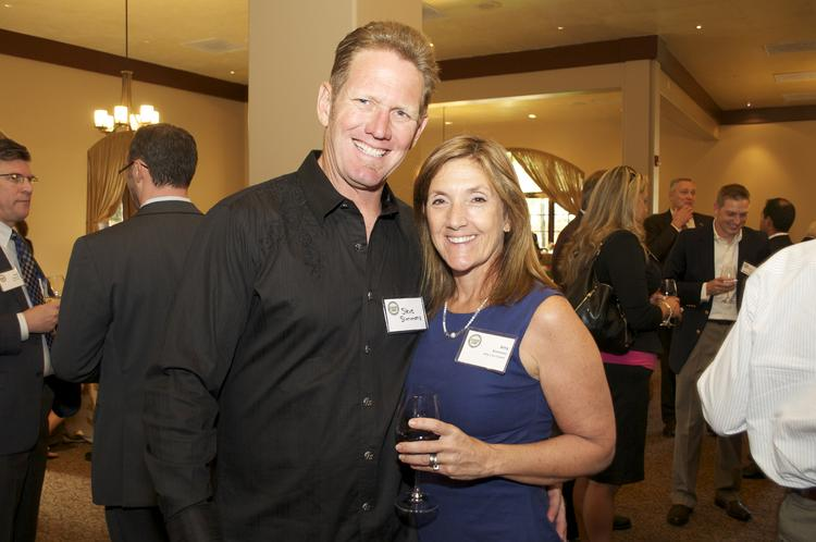 From left: Steve Simmons with Amy Simmons, CEO and president of Austin-based Amy's Ice Creams.       Click here to see a photo gallery from the Fast 100 VIP event.