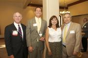 From left: Kevin Rafferty, Iberia Bank; Bo Bothe, BrandExtract LLC; Laura Kramis; Miguel Kramis, CEO of Miracle TV Corp.