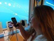 HBJ's Diana McKinney asking Siri a question.