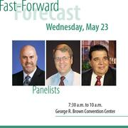 "An panel of economy experts share predictions on Houston's future and how businesses should prepare. The panelists include Robert Dye, chief economist of Comerica Bank; Patrick Jankowski, regional economist of the Greater Houston Partnership; and Michael Economides, author or ""The Color of Oil"" and regular HBJ columnist."