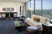The living room in Hotel Derek's Presidential suite.