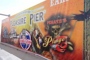 The $60 million Galveston Pleasure Pier is in its final phase of construction and is expected to open on schedule on Memorial Day weekend in May. Click on this image to launch a slideshow of photos for a visual tour of the construction process.