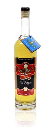 In addition to rum, Railean's distillery makes products from 100% blue agave. Shown above, Railean's El Perico Reposado.