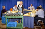 A look at one of the official judging panels in action during the Rodeo Uncorked! International Wine Competition Nov. 12-13 at Reliant Center.