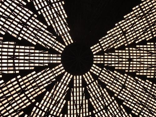 Harris County officials are still pondering the fate of the Astrodome, whose landmark ceiling is shown in this recent photo. Click here for a slideshow of the April tour inside the Astrodome.