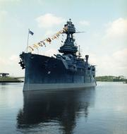Battleship Texas pictured in the 1990s.