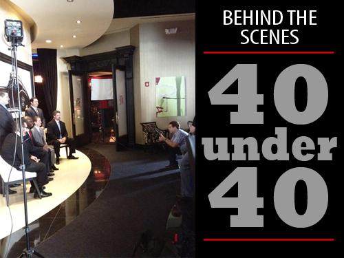 The 40 Under 40 photo shoot for the Class of 2012 was held at The Marque at CityCentre.