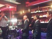 Kayne captures Mike Mahlstedt, David Anderson, Scott Frankel and Bobby Heugel in a bar shot.