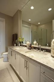 The Sophisticated Chic model has 2 bedrooms and 2.5 baths.